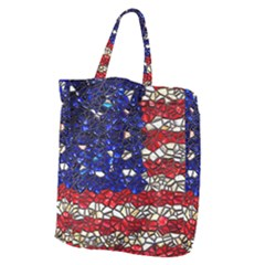 American Flag Mosaic Giant Grocery Tote by bloomingvinedesign