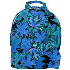 Blue Fall Leaves Mini Full Print Backpack by bloomingvinedesign
