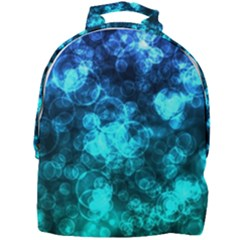Blue Ocean Bokeh Lights Mini Full Print Backpack by bloomingvinedesign