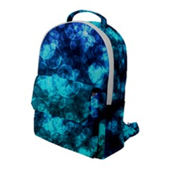Blue Ocean Bokeh Lights Flap Pocket Backpack (large) by bloomingvinedesign