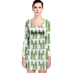 Prickle Plants Long Sleeve Velvet Bodycon Dress by ArtByAng