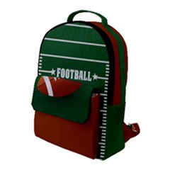 Football Flap Pocket Backpack (large) by Wanni