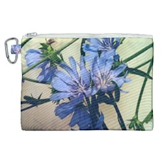 Blue Wildflowers Canvas Cosmetic Bag (xl)