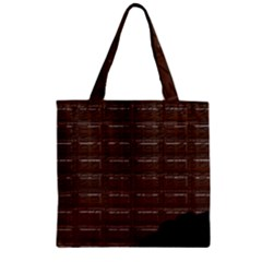 Chocolate Bar Zipper Grocery Tote Bag by bloomingvinedesign