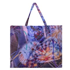 Coffee Cup Abstract Zipper Large Tote Bag by bloomingvinedesign