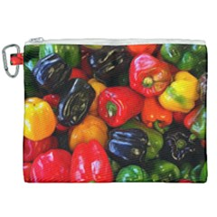 Colorful Bell Peppers Canvas Cosmetic Bag (xxl) by bloomingvinedesign
