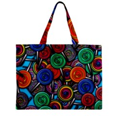 Colorful Lollipops Zipper Mini Tote Bag by bloomingvinedesign