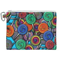 Colorful Lollipops Canvas Cosmetic Bag (xxl) by bloomingvinedesign