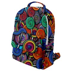 Colorful Lollipops Flap Pocket Backpack (small) by bloomingvinedesign