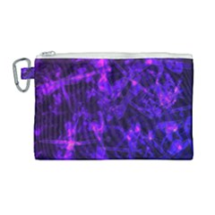Purple Bokeh Light Dragonflies Canvas Cosmetic Bag (large)