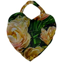 Early Summer Flowers Giant Heart Shaped Tote by bloomingvinedesign