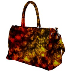 Fall Leaves In Bokeh Lights Duffel Travel Bag by bloomingvinedesign