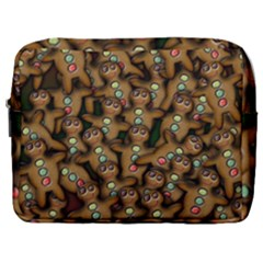 Gingerbread Cookie Collage Make Up Pouch (large) by bloomingvinedesign