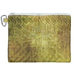 Golden Dragon Scales Pattern Canvas Cosmetic Bag (xxl)