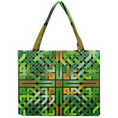 Green Celtic Knot Square Mini Tote Bag by bloomingvinedesign