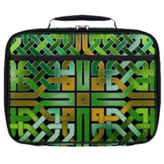 Green Celtic Knot Square Full Print Lunch Bag by bloomingvinedesign