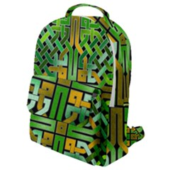 Green Celtic Knot Square Flap Pocket Backpack (small) by bloomingvinedesign