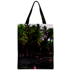 Hawaiian Beach Abstract Zipper Classic Tote Bag by bloomingvinedesign