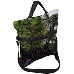Hawaiian Beach Abstract Fold Over Handle Tote Bag by bloomingvinedesign