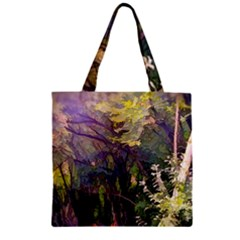 Into Woodlands Zipper Grocery Tote Bag by bloomingvinedesign