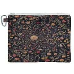 Medieval Flowers On Black Canvas Cosmetic Bag (xxl) by bloomingvinedesign