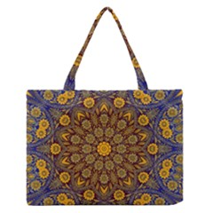 Morocco Kaleidoscope Zipper Medium Tote Bag by bloomingvinedesign