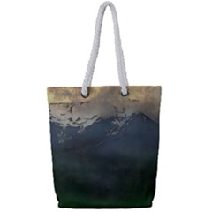Mountains Near West Full Print Rope Handle Tote (small) by bloomingvinedesign
