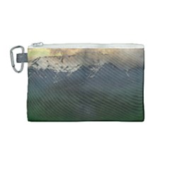 Mountains Near West Canvas Cosmetic Bag (medium) by bloomingvinedesign