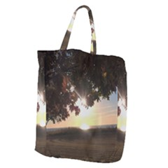 Nine Oclock Sunrise In Fall Giant Grocery Tote
