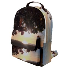 Nine Oclock Sunrise In Fall Flap Pocket Backpack (small) by bloomingvinedesign