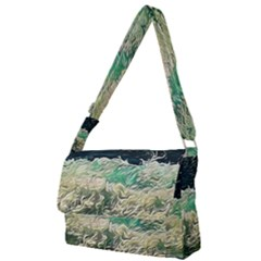 Ocean Wave Close To Shore Full Print Messenger Bag by bloomingvinedesign