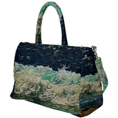 Ocean Wave Close To Shore Duffel Travel Bag by bloomingvinedesign
