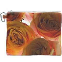 Orange Roses Canvas Cosmetic Bag (xxxl) by bloomingvinedesign