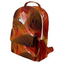 Orange Roses Flap Pocket Backpack (small) by bloomingvinedesign