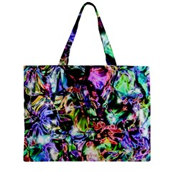 Pastel Liquid Metallic Sparkle Zipper Mini Tote Bag by bloomingvinedesign