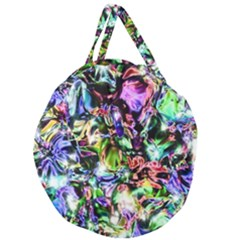 Pastel Liquid Metallic Sparkle Giant Round Zipper Tote by bloomingvinedesign
