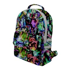 Pastel Liquid Metallic Sparkle Flap Pocket Backpack (large) by bloomingvinedesign
