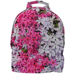 Pink And White Phlox Flowers Mini Full Print Backpack