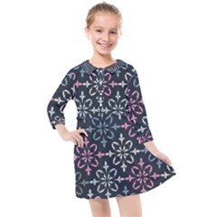 Background Wallpaper Abstract Art Kids  Quarter Sleeve Shirt Dress