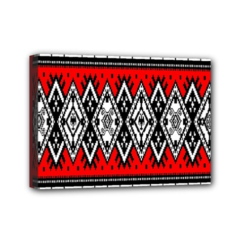 Decoration Pattern Style Retro Mini Canvas 7  X 5  (stretched) by Nexatart
