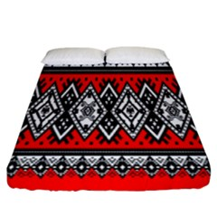 Decoration Pattern Style Retro Fitted Sheet (california King Size)