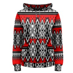 Decoration Pattern Style Retro Women s Pullover Hoodie