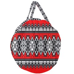 Decoration Pattern Style Retro Giant Round Zipper Tote