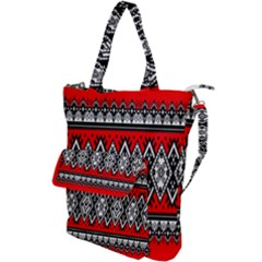 Decoration Pattern Style Retro Shoulder Tote Bag