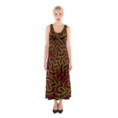 Beautiful Art Pattern Sleeveless Maxi Dress