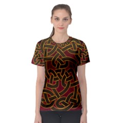 Beautiful Art Pattern Women s Sport Mesh Tee