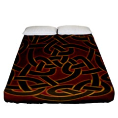 Beautiful Art Pattern Fitted Sheet (california King Size)