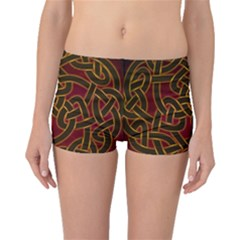 Beautiful Art Pattern Boyleg Bikini Bottoms