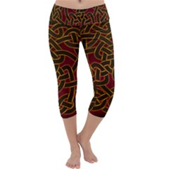 Beautiful Art Pattern Capri Yoga Leggings