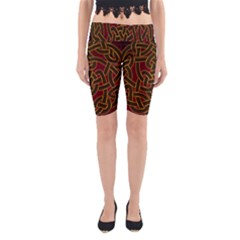 Beautiful Art Pattern Yoga Cropped Leggings